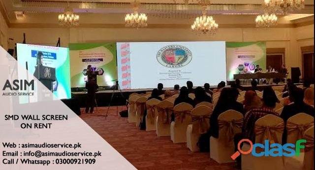 Smd wall rent in karachi   asim audio service