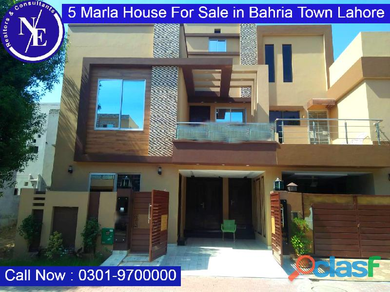 Beautiful 5 marla house for sale in lahore bahriatown