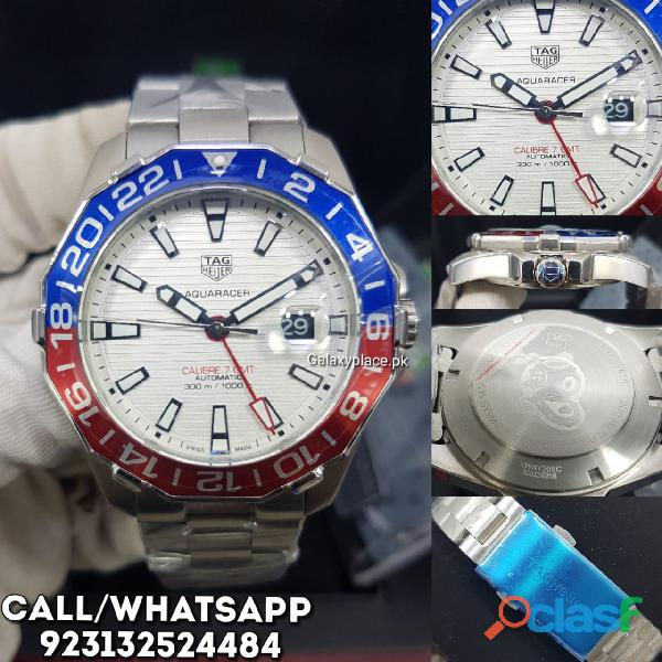 Tag heuer aquaracer calibre 7 gmt white dial watch