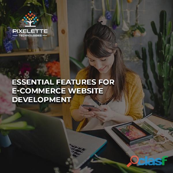 Essential Features for E commerce Website Development | pixelettetechnologies