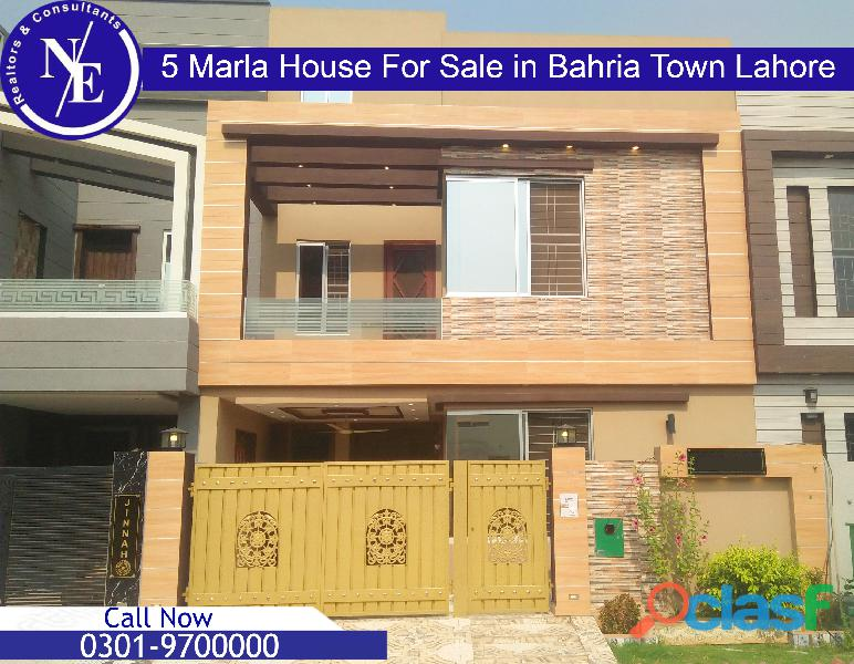 5 marla brand new beautiful house for sale in bahria town lahore