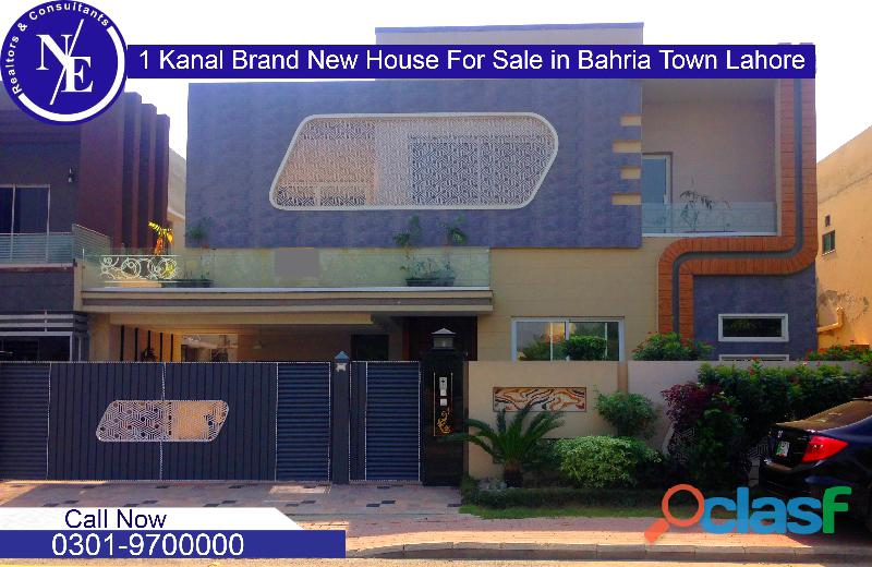 1 kanal brand new house for sale in bahria town lahore