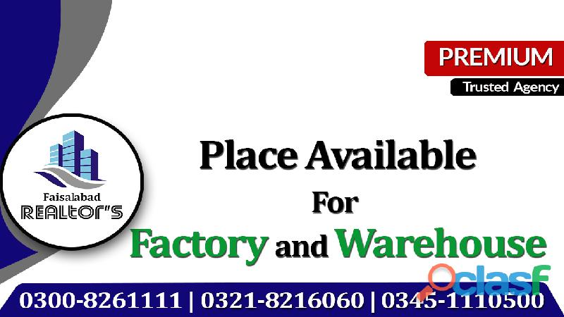 12 Acre Industrial Land For Rent On Warehouse At Canal Expressway Faisalabad