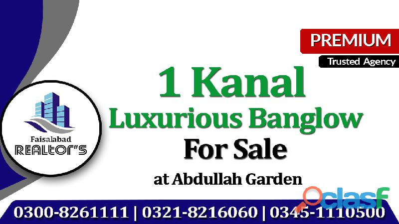 19 marla well constructed well constructed owner built banglow for sale location: amir town