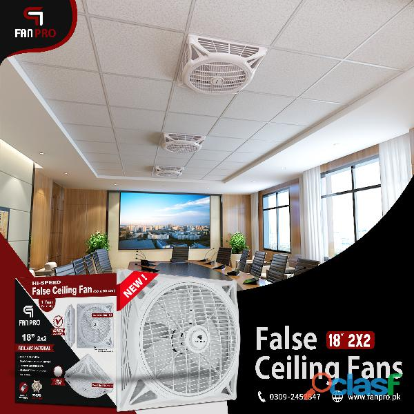 "FANPRO Top Quality Energy Saving 18"" 2x2 False Ceiling Fan 5"