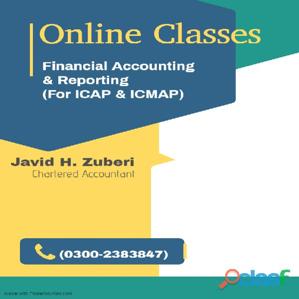 Online classes of financial accounting & reporting for icap & icmap students
