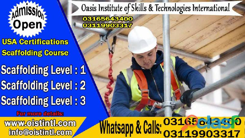 Scaffolding Level 1 & 2 Lead Training Course in Islamabad, Pakistan O3165643400