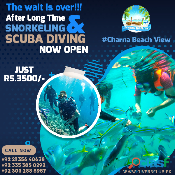 snorkeling and scubadiving at charna beach view