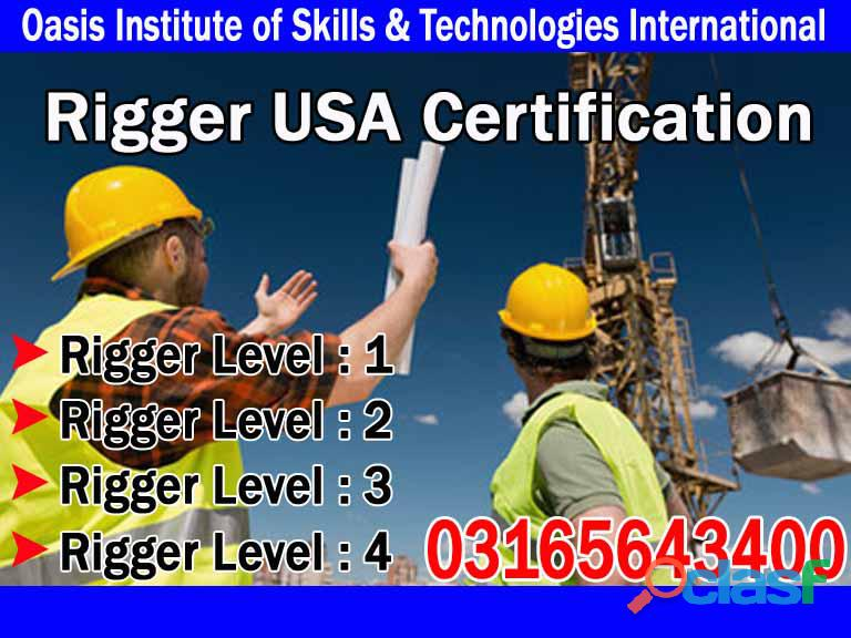 Qualified Rigger Level 1 & 2 USA Certification Training Course in Islamabad, Lahore, Chakwal