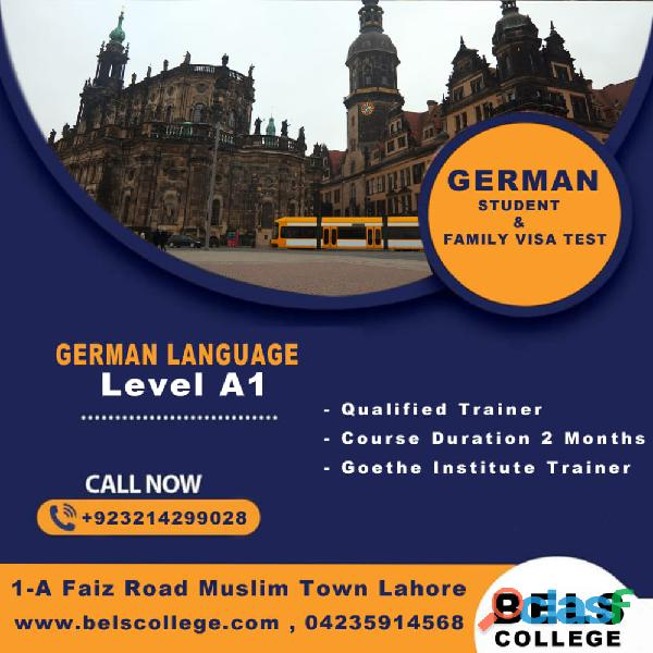 German a1 language classes in lahore bels college