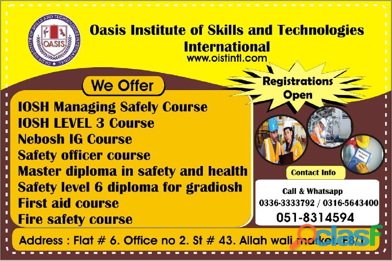 Hse new nebosh ig training course in islamabad, lahore, faisalabad, pakistan o3165643400