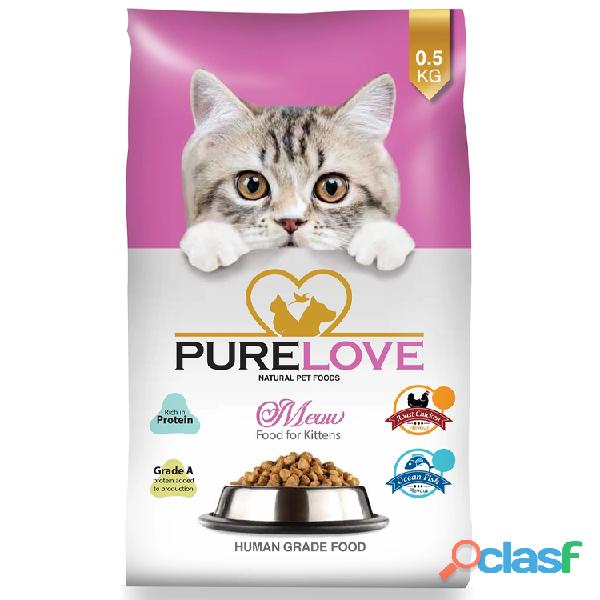 Buy online best food purelove meow ocean fish for kittens 500g