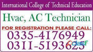 Ac technician practical training diploma course in rawalpindi, rawat