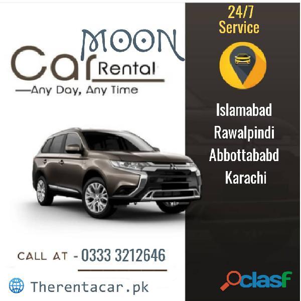 Rent a car service islamabad