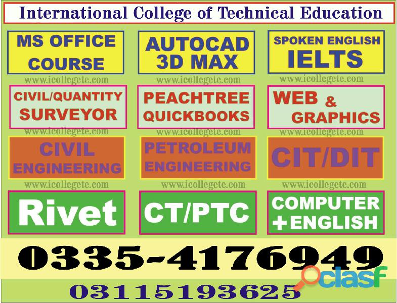 Dit diploma in information technology course in faisalabad sialkot