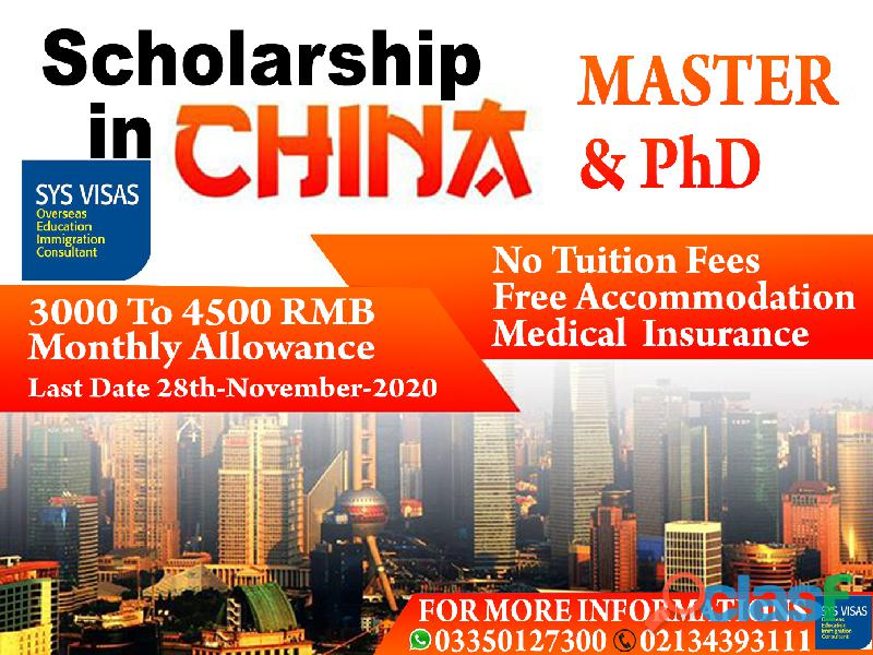Scholarship in china master and phd