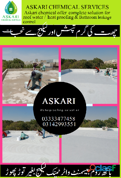 Roof water proofing roof heat proofing