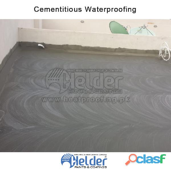 We provide best waterproofing service helder waterproofing chemical can be apply on roof or walls. i