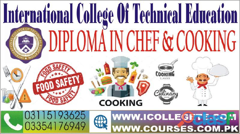 Diploma in Chef and Cooking Course in Sialkot Faisalabad 1