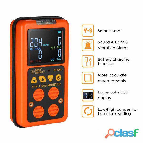 St8900 smart sensor multi gas detector co, o2, h2s, lel in pakistan