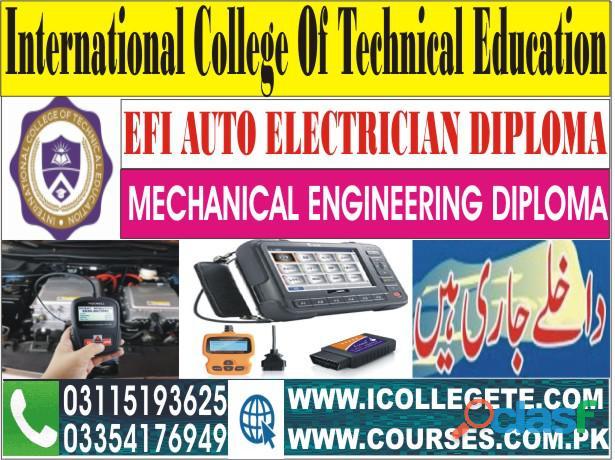 Efi auto car theory + practical training course in rawat sahiwal