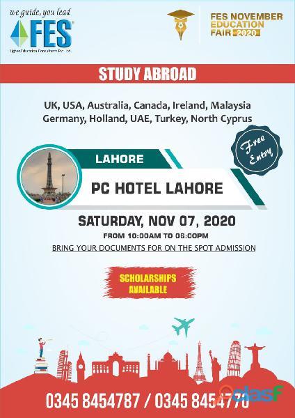 Fes november education fair 2020 @ all major cities of pakistan]
