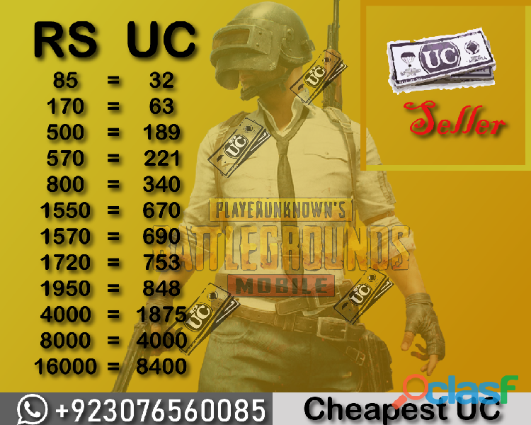 Pubg uc for sale at cheapest price