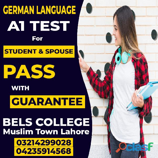 German language, german a1 test, bels college