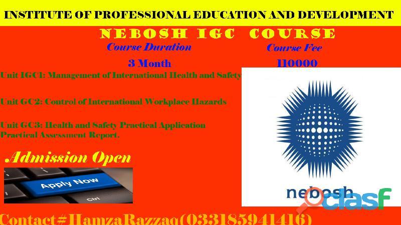 Nebosh igc course in rawalpindi, pakistan. 03318594146