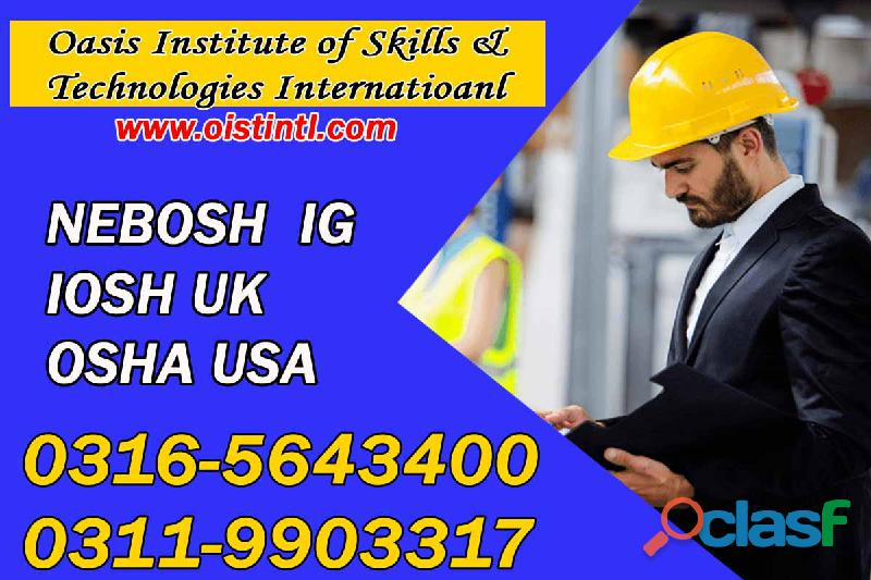 New nebosh ig training course in pakistan o3165643400