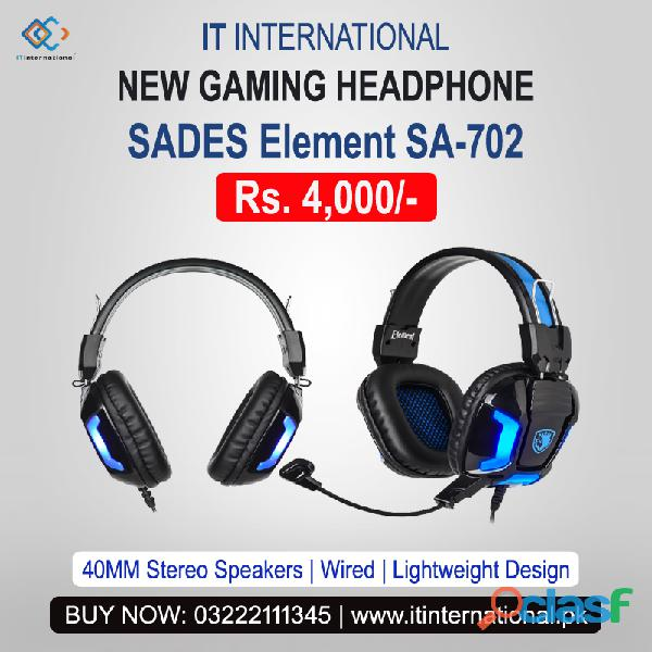 "Contact for best new gaming headphone ""sades element sa 702"" with lowest price in pakistan."