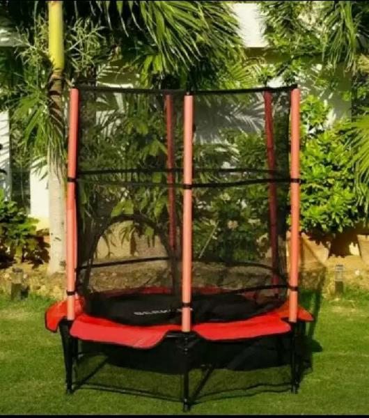 55 inches kids trampoline with safety net