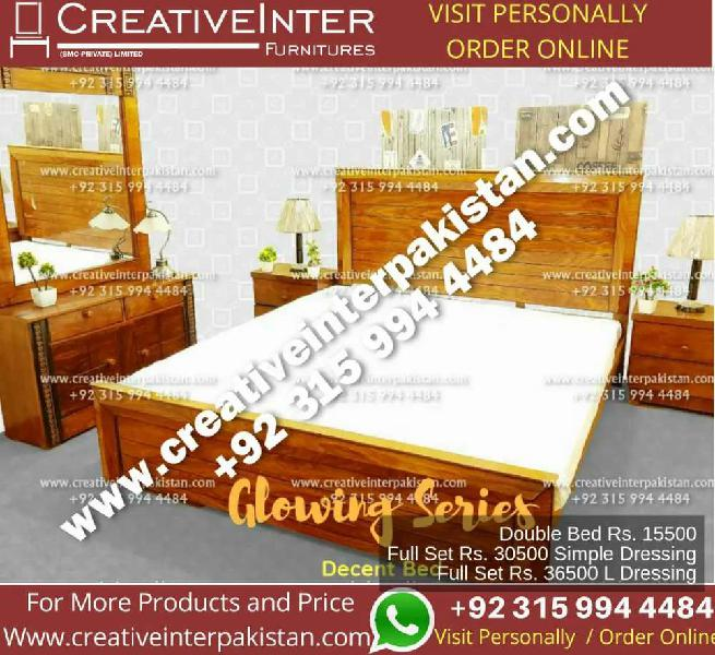 Bed double superior sofa set dining almari cupboard