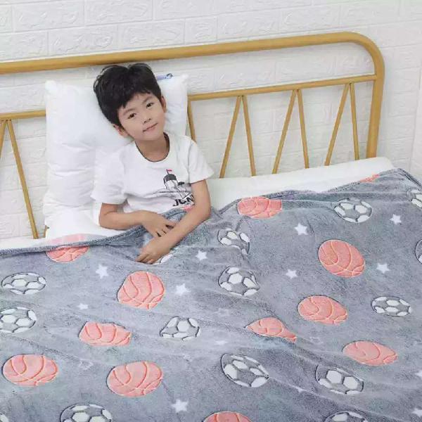 Glow in the dark super soft fleece blanket for kids throw
