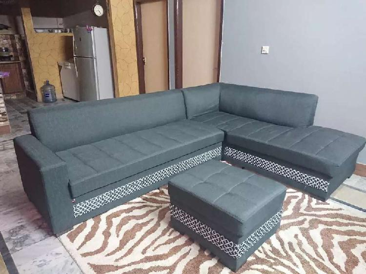 L shape sofa with puffy