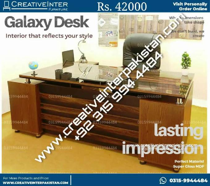 Executive Office Table Desk Counter study computer chair
