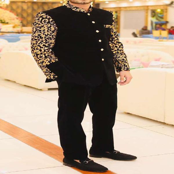 Designer velvet prince coat