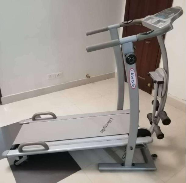 Treadmill (manual) multi-exercise machine