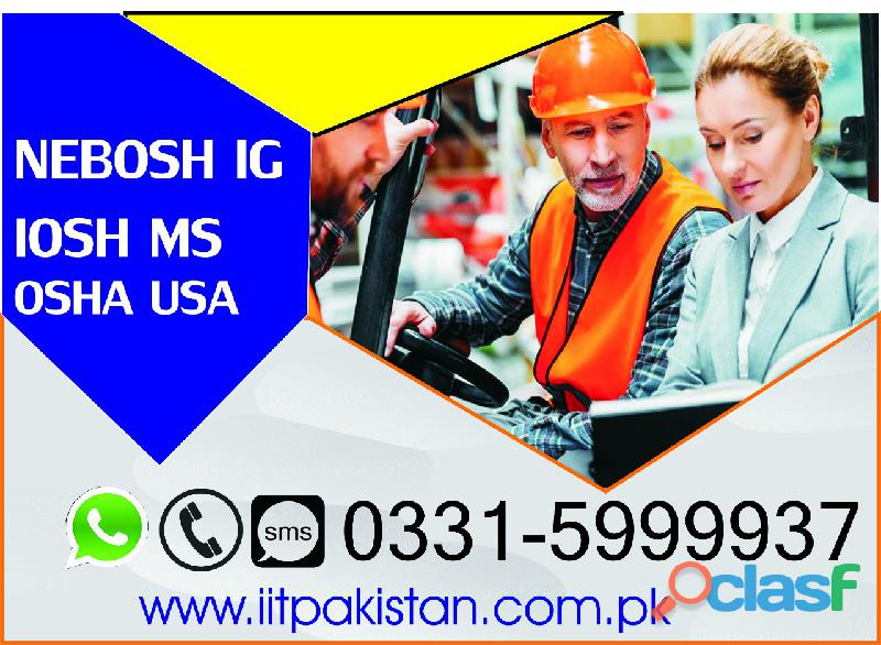 Safety officer nebosh course in lahore