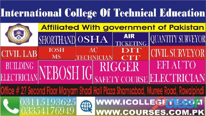 Civil lab technician course in rawalpindi murree road shamsabad 03354176949 2