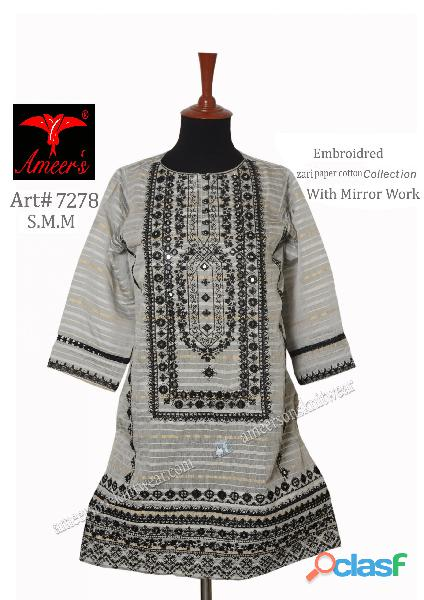 Fancy Zari Paper Cotton Collection With Mirror Work By Ameer Sons Knitwear 2