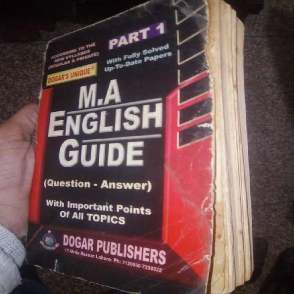 M.A. English Guide For Sale