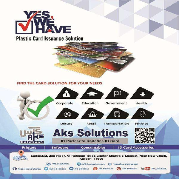 Plain pvc & rfid card printers