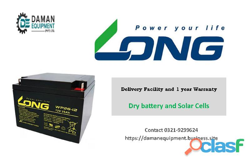 LONG BATTERY 26AH/12V WITH 1 YEAR WARRANTY
