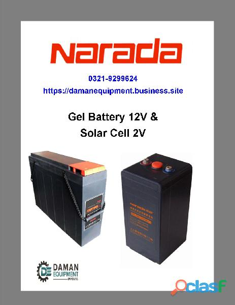 Narada Gel Battery 400ah/2V 1 Year Warranty