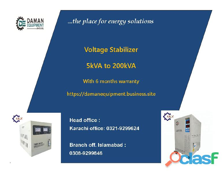 Voltage Stabilizer KRMM 50 KVA 6 Months Warranty
