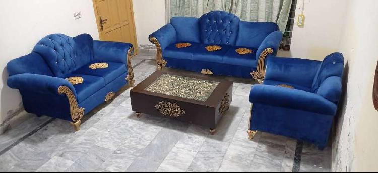 Blue valvit6 seated sofa set complete houme furniture for