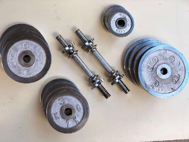 Metal chrome plate, twister, dumbbells, chinup bar, rod,