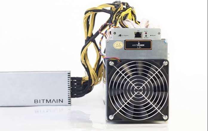 Bitmain l3+ 506 mh/s litecoin miner