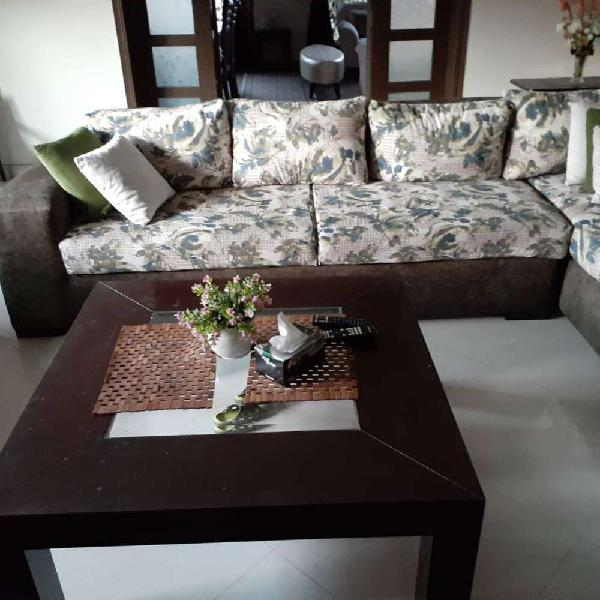 7 seater sofa set with settee and centre table